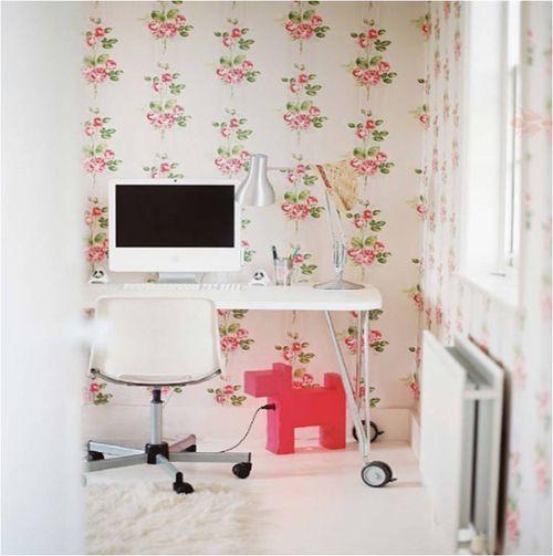 #pink #white #office #wallpaper #domino