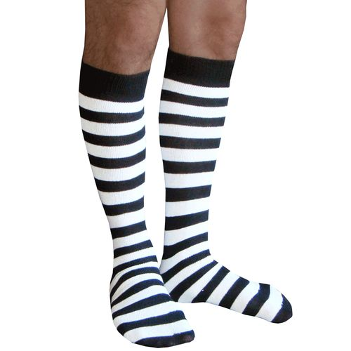 Black & white athletic tube style mens knee socks.  Shop our entire Mens collection.  Chrissy's Socks 877-862-6267