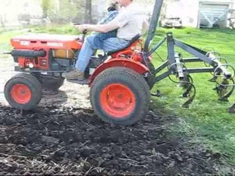 Kubota B7100hst Chisel Plowing Youtube Kubota Garden Tractor Lawn And Garden