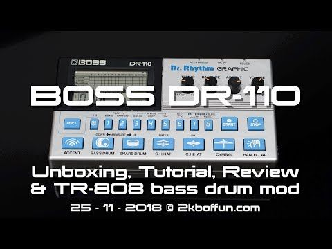 Boss Dr 110 Analog Drum Machine 1983 Unboxing Tutorial Review