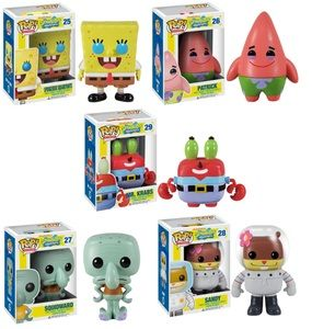Funko Pop Spongebob Squarepants 5 Pc Vinyl Figure Set