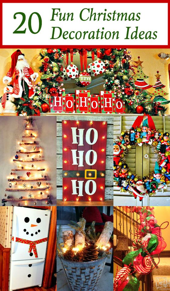 20 Fun Christmas Decorations Crafts Love And Christmas