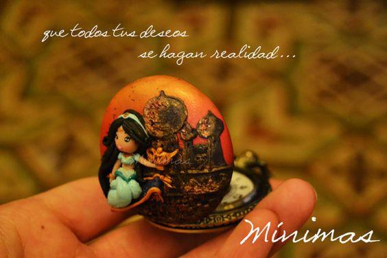 Colgante / Reloj Inspirado en Jasmín ~ Aladino Disney #etsy #etsyjewelry