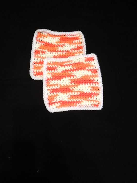 Set of Two 100% Cotton Dishcloths on Etsy, $5.00