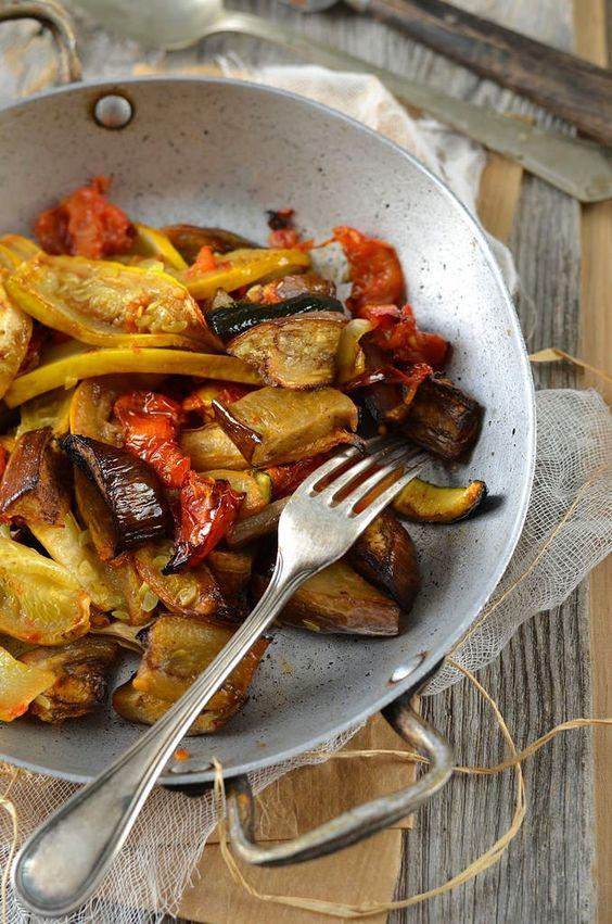 Légumes d'été rôtis au four {presque confits}