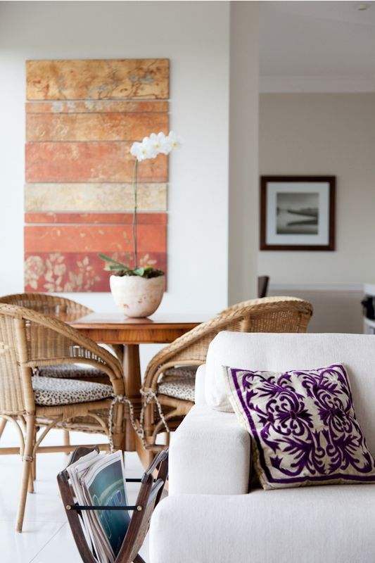Wicker Chairs & Pillow