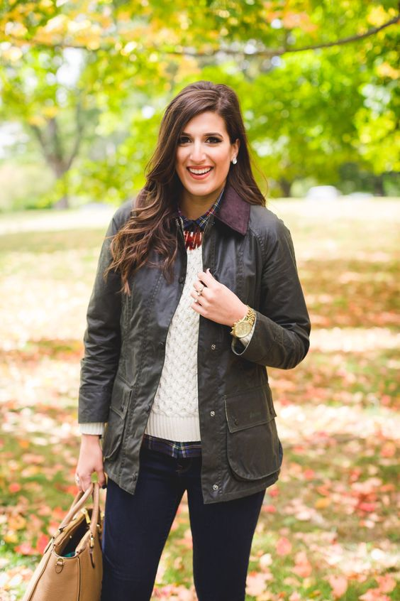 barbour jacket, barbour coat, beadnell jacket, preppy fall outfit, fall outfits, new england preppy, new england fall, bean boots, navy bean boots, monogram necklace // grace wainwright from a southern drawl