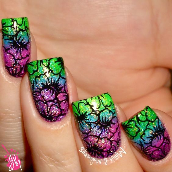 Manis & Makeovers: The Digit-al Dozen does Colour Contrasts! - Clashing & Cute