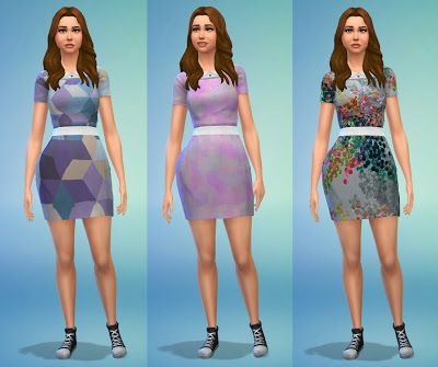 My Sims 4 Blog: Clothing - AF - Dresses - Short