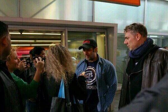 Salman Khan and Randeep Hooda at Chopin Airport - Poland + Video | PINKVILLA