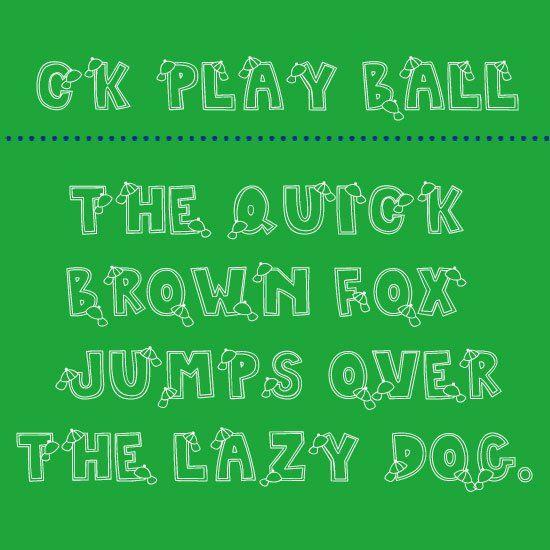Free Font Friday - CK Play Ball