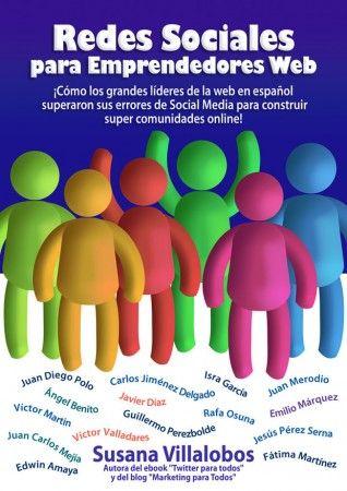 """Descarga gratis el ebook """"Redes Sociales para emprendedores web"""", de Susana Villalobos"""