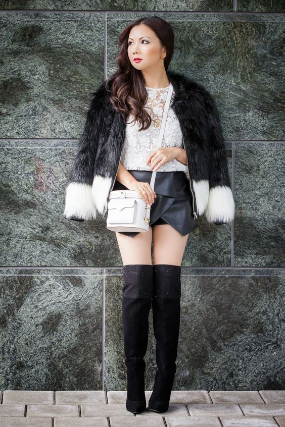 www.streetstylecity.blogspot.com Be inspired by the people in the street ! otkboots skort leather