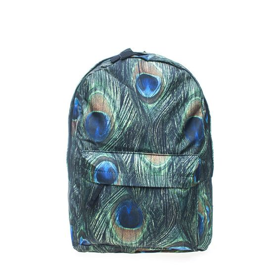Peacock Feathers School Backpack