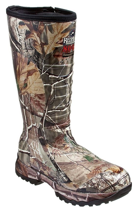 RedHead 800 Gram Thinsulate Side Zip Rubber Boots for Men | Bass ...