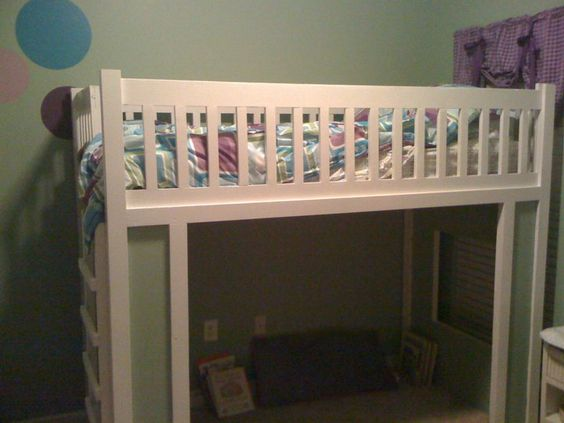 variation on the bunk bed; open in front..can use curtains that child can close on their own.