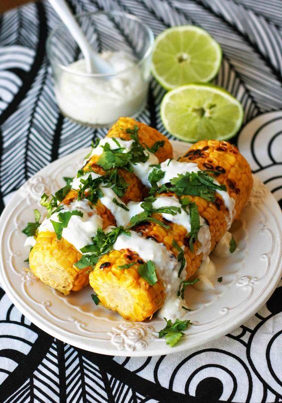mon ampersand: Epi de maïs grillé, sauce exotique