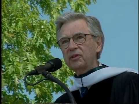 Videos That Inspire Fred Rogers Commencement Speech At Dartmouth Never Underestimate The Difference You Can Make G Fred Rogers Dartmouth College Mr Rodgers