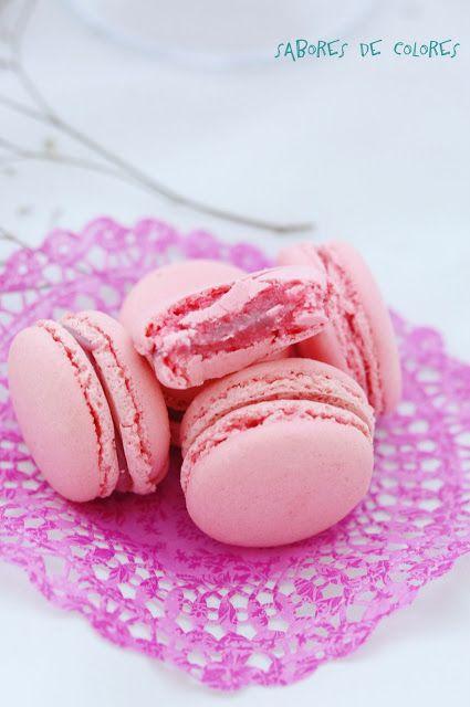 Sabores de colores: Macarons de frambuesa y chocolate blanco