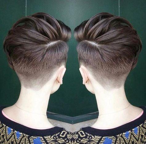 Shaved Back Short Hair Styles Androgynous Hair Hair Styles