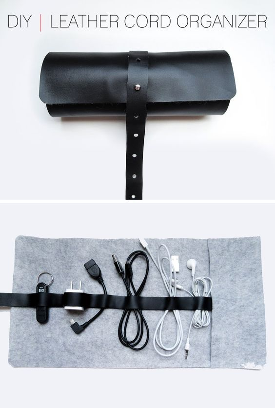 Diy leather cord organizer home and diy pinterest Diy cable organizer