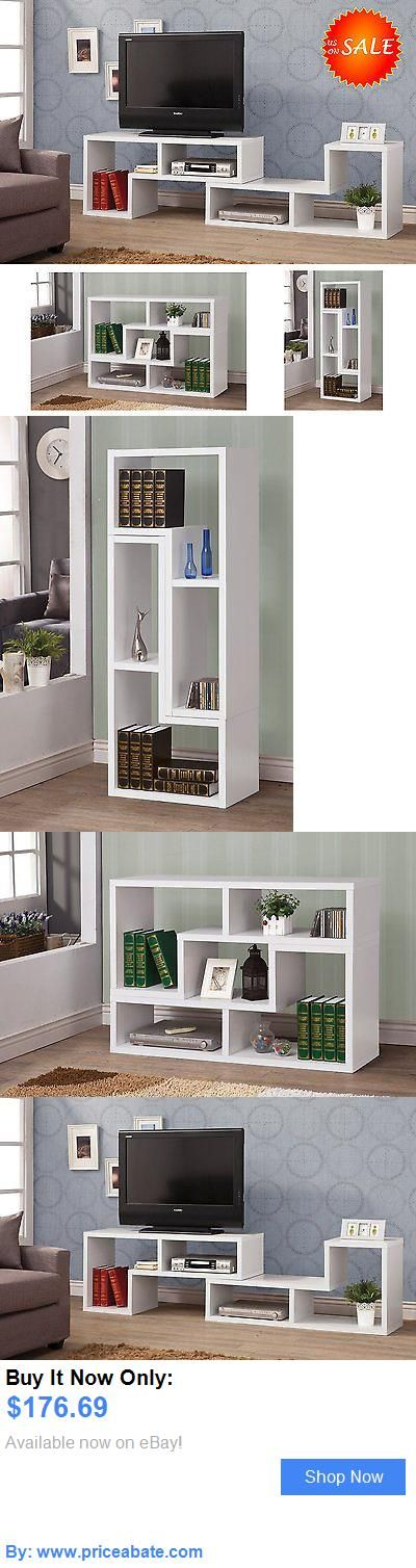 Entertainment Units, TV Stands: Modern Tv Stand Console Media Storage Cabinet Shelf Home Entertainment Furniture BUY IT NOW ONLY: $176.69 #priceabateEntertainmentUnitsTVStands OR #priceabate