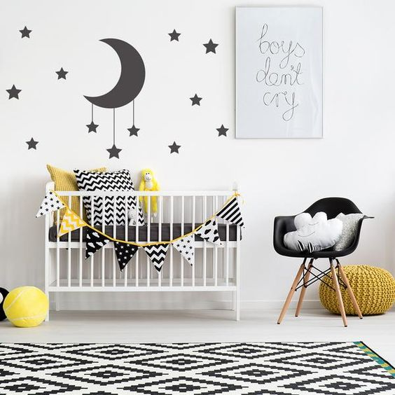 Moon and Stars Wall Decals - V&C Designs Ltd  - 1: