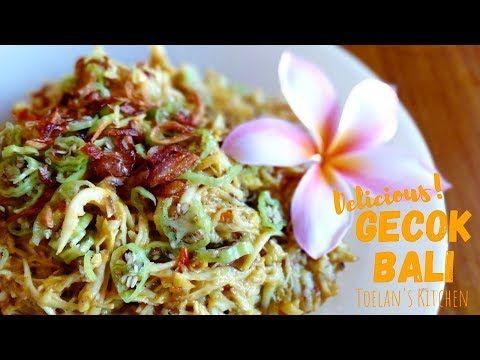 Cara Membuat Gecok Khas Bali Kelapa Dan Ayam Suwir Bumbu Kalas Toelan S Kitchen Youtube Ayam Kelapa Bali