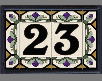 House Numbers Etsy Ceramic House Numbers House Numbers Frame Set
