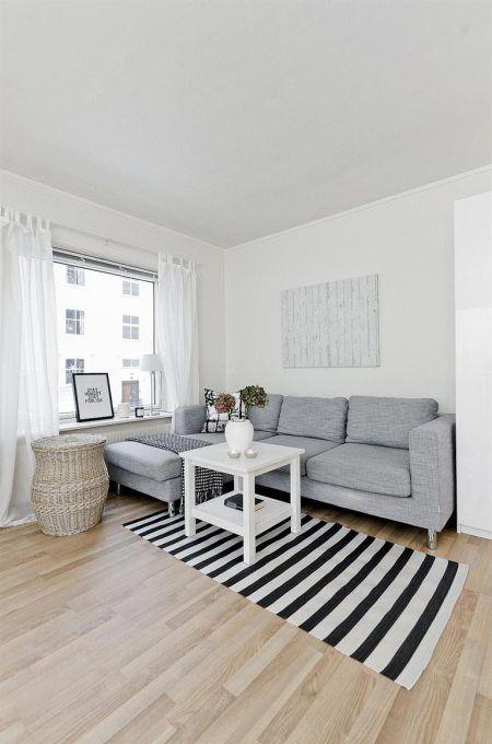 Muebles de ikea decoración estilo escandinavo en blancos y grises ...