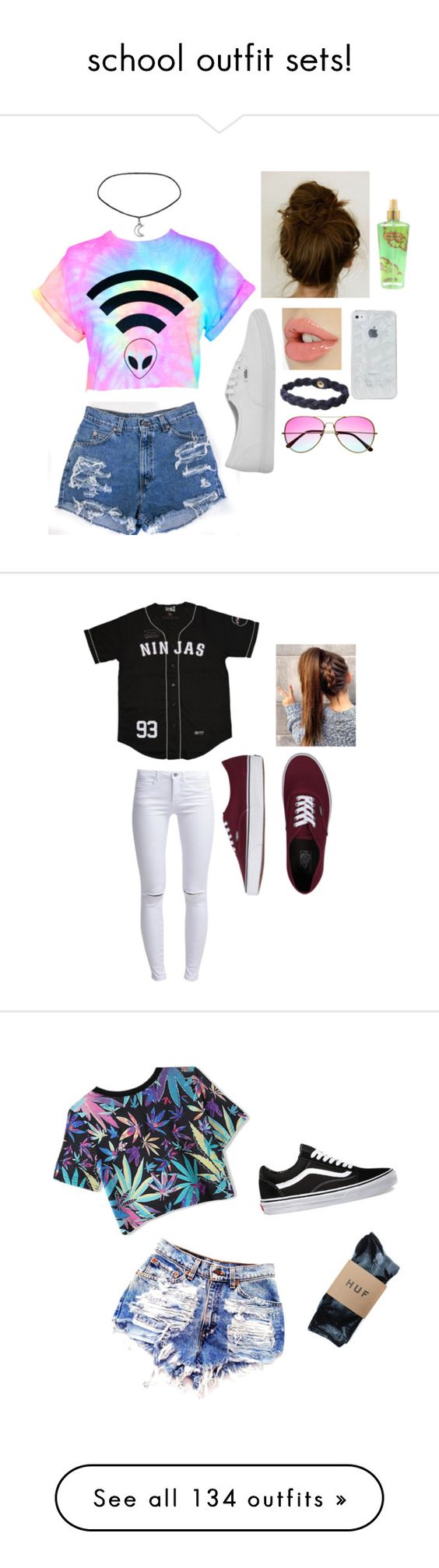 """""""school outfit sets!"""" by thatgirldiana ❤ liked on Polyvore"""