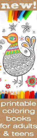 Printable coloring pages for adults and teens! I love to color!