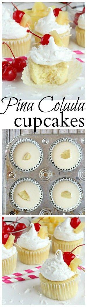Pina Colada cupcakes made with pineapple, coconut and Sir Bananas™ Bananamilk. #Bananamazing #ad