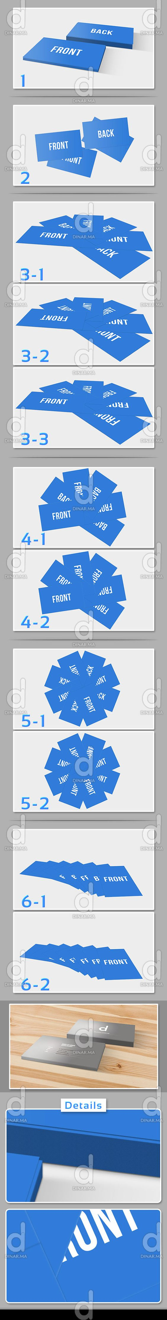 6 Cards Templates