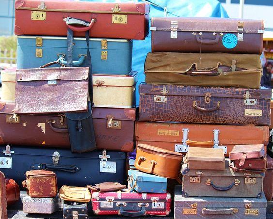 Bagage, Stapel, Vintage, Vakken, Oude, Rommelmarkt