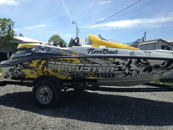 Ng Graphic Kit Decal Boat Sportster Sea Doo Speedster Sport Wrap - Sporting boat decalsboston whaler decals ebay