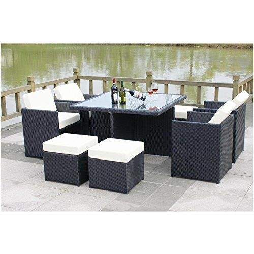 all seasons outdoor jt40s rattan garden furniture outdoor patio set with glass table amazoncom patio furniture