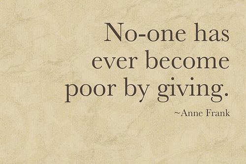 Giving..