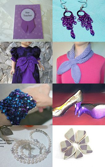 Pretty in Purple by Kitty Hu and Brenda--Pinned with TreasuryPin.com