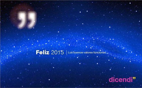 Feliz 2015 - Los buenos valores funcionan