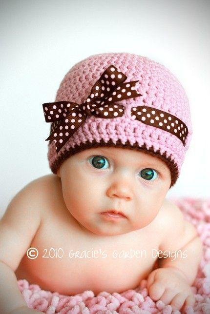 LARGE Bow Bonnet Personalised Pink Baby Girl Hat Newborn Gift Waffle Fabric Beanie Baby Turban Bandana
