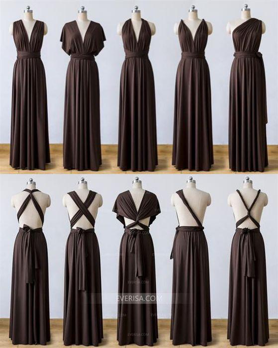 Dark Brown Infinity Dress Multiway Convertable Bridesmaid Dress Dress Brown Dark Infi Multi Way Dress Convertible Bridesmaid Dress Brown Bridesmaid Dresses