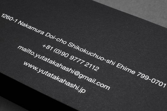 Business card and website design.