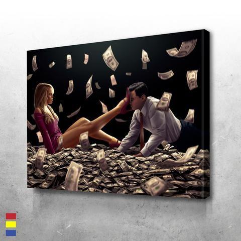 Head Over Heels Black Movie Artwork Ink In Water Motivational Art