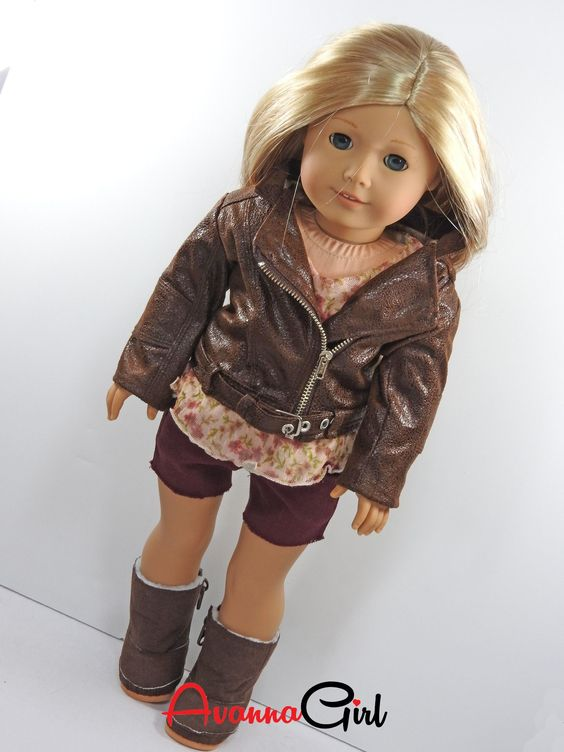 Motorcycle Jacket for American Girl Doll – Avanna Girl