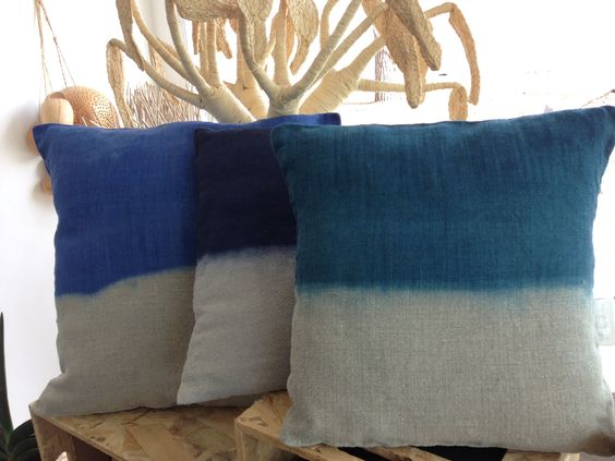 #agunforagirl#home#décoration#pillow#intérieur#coussin#marseille#lin#jean#tieanddye#faitmain#handmade#homemade#artisanal#créateurs# blue#bleu#turquoise