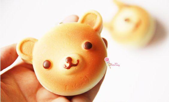 Squishy Bunny Etsy : Kawaii Double-sided Bear/ Bunny Bread Pancake Squishy Charm via Etsy Squishies Pinterest ...