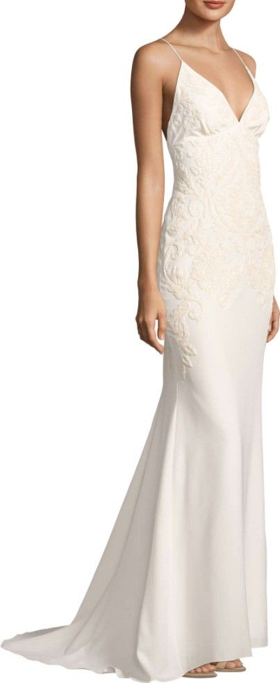 Nicole Miller, Annabel Baroque Beaded Gown