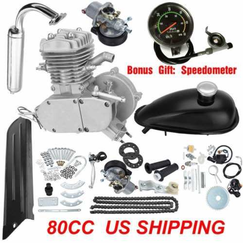 80cc 2-Stroke Gas Motorized Bicycle Kit Bike Petrol Engine Motor Air-cooling Kit https://t.co/uaXoHcTCD9 https://t.co/Z3341E1Nic