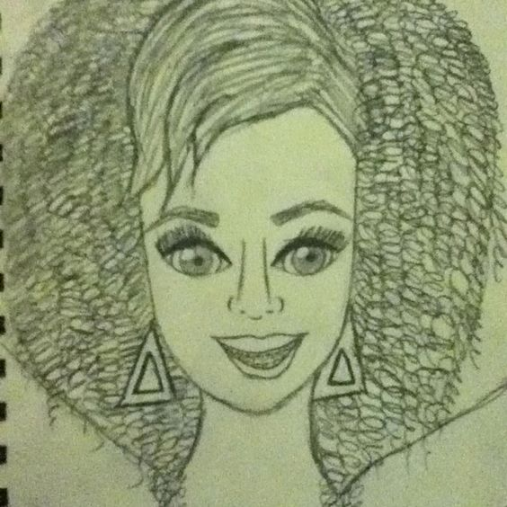 Laurels drawing of Katy Perry as Kathy Beth